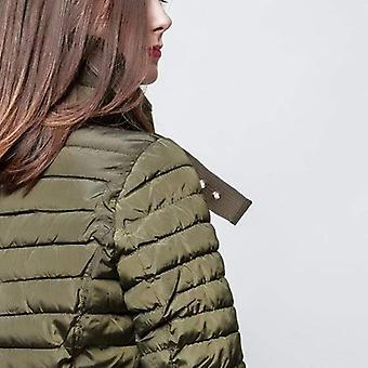 High collar slim fit puffer jacket