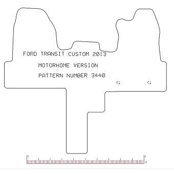 Voll maßgeschneiderte Gummi Custom Made Auto Bodenmatten Teppiche (Wohnmobil)
