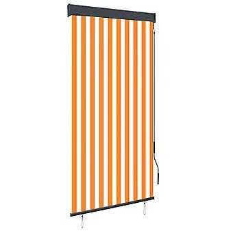 vidaXL الخارجي الأسطوانة أعمى 100 × 250 سم الأبيض والبرتقالي