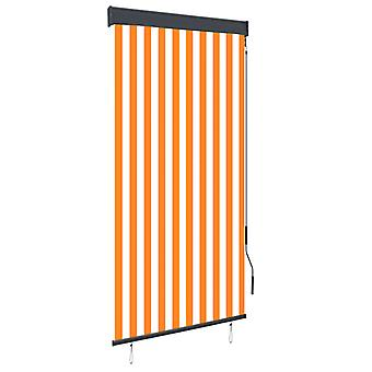 vidaXL outer roller blind 100 x 250 cm white and orange