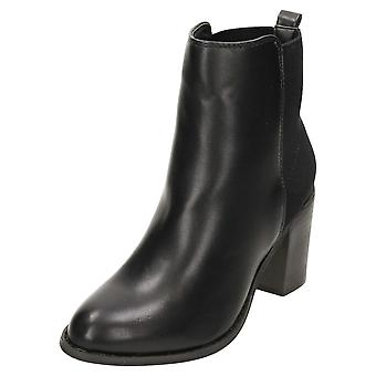 Koi Footwear Chelsea Ankle Boots Block High Heel Pull On