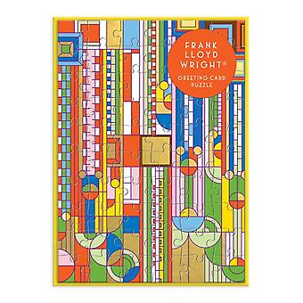 Frank Lloyd Wright Saguaro Forms  Cactus Flowers Greeting Card Puzzle by Other Frank Lloyd Wright