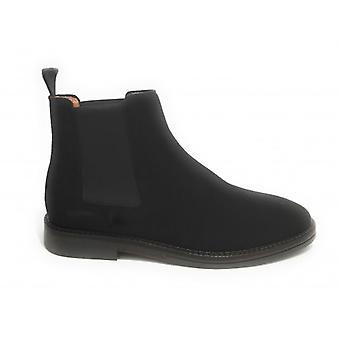 الرجال الطموح حذاء 8886 البيتلز جلد الغزال الكاحل التمهيد الأسود U21am18