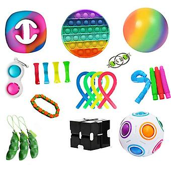 Sensory Fidget Toys Set 23 Pack Stress Relief And Anti-anxiety Hand Toys For Kids And Adults Calming Toys