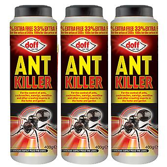 3 x 400g Ants Powder Ant Nests Indoor Outdoor 3mth Insect Cocokroach Woodlice