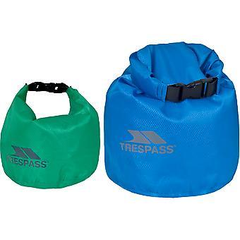 Trespass Exhilaration wasserdicht langlebig 2 Pack Trockentasche Set