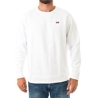 Sweat-shirt homme levi's new original crew-white 35909-0000