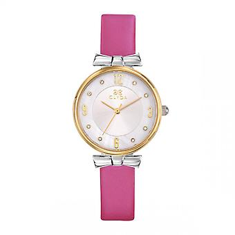 Jean Paul Gaultier Dameshorloge - CLA0778BAPC - Roze Lederen Armband
