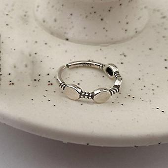 Sterling Silver Width Rings, Couples Vintage Trendy Love, Heart Multilayer,