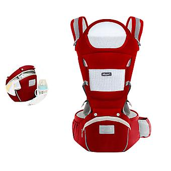 6-in-1 Baby Carrier With Waist Stool, One Size Fits All -adapt To Newborn, Baby Hip Carrier