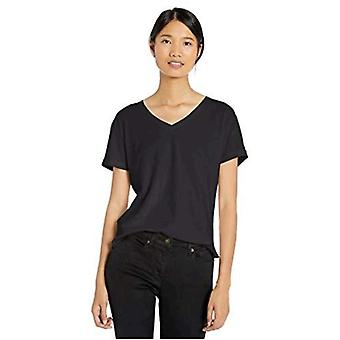 Brand - Goodthreads Women's  Washed Jersey Cotton Roll-Sleeve V-Neck T-Shirt