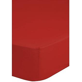 sträckt sängduk 180 x 200 cm bomull röd