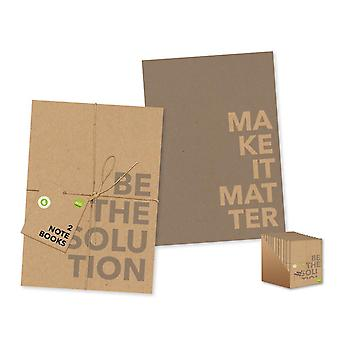 Eco Friendly A5 Softcover Notebooks 2 Pack