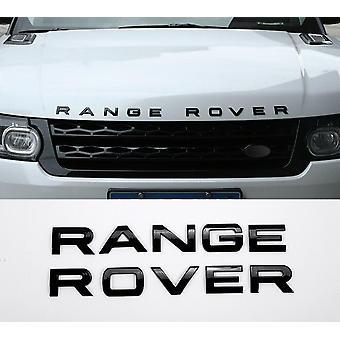Глянцевый черный RANGE ROVER Передний гриль Bonnet значок эмблема и обратно буквы значок (Pack 2)