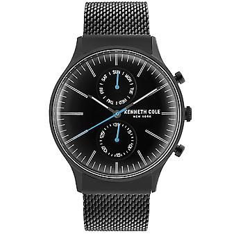 Kenneth Cole Kc50585007 Robe moderne Black Stainless Steel Mesh Mens Watch