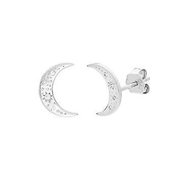 """OELANI Women's Earrings in Silver 925 with Zircons, """"Stars&Moon"""