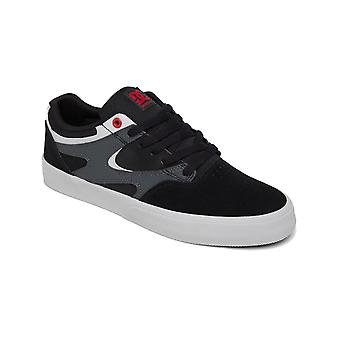DC Kalis Vulc Trainers in Black/Athletic Red/Black