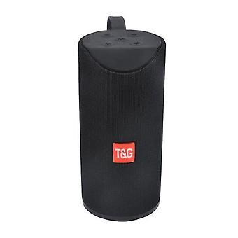 Black bluetooth speaker portable outdoor speaker wireless stereo support FM TFCard