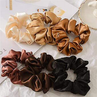 Women's hair band solid color released circle head rope headdress