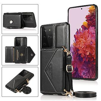 Læder pung sag til Samsung A21s sorte pns-671