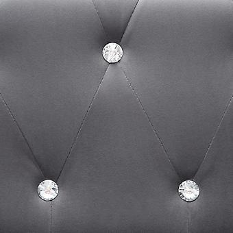 vidaXL Chesterfield Sofa-Set 2-tlg. Samtpolsterung Grau