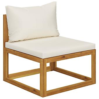 vidaXL 2 stuks. Tuinbank set met steun massief houten acacia