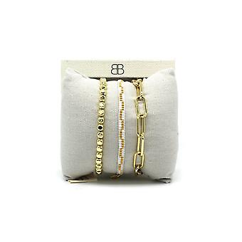 Boho betty batam gold 3 layered bracelet stack