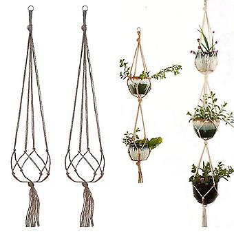 Group1 macrame plant hangers indoor outdoor hanging planter basket jute rope flower pot holder x581