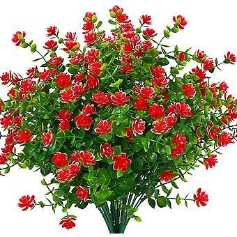Kunstmatige nep bloemen buiten, nep plastic greenerywedding boerderij decor 24 stuks rode lotus