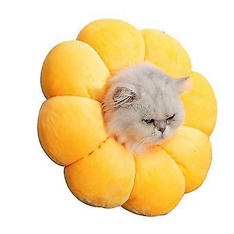 Xl yellow cat and dog sun flower medical collar anti-bite and anti-licking pet supplies az22798