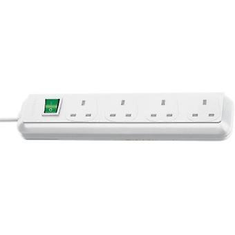 Brennenstuhl Eco-Line 4 Gang 1.5m White UK Plug