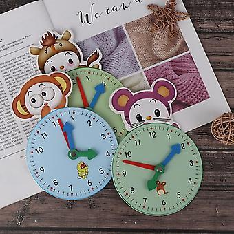 أرقام الوقت تعلم التعليم متعة الأدوات مثيرة للاهتمام للطفل ساعة خشبية