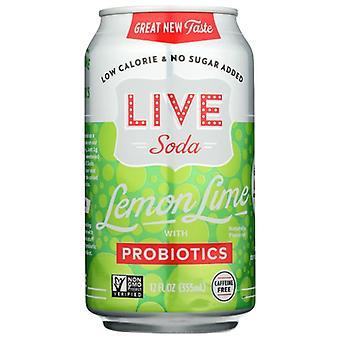Live Soda Soda Live Lemon Lime 6Pk, Case of 4 X 72 Oz