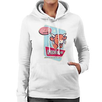 The Laughing Cow Bel And Bon Depuis 1921 Women's Hooded Sweatshirt