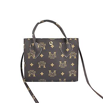 Top Handle Bag With Letters Print