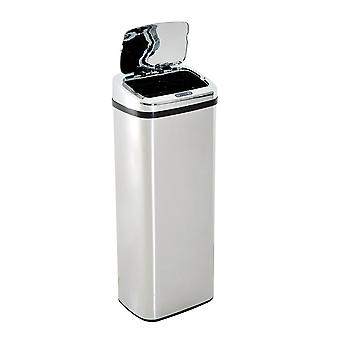 HOMCOM 50L Infrared Touchless Automatic Motion Sensor Dustbin Stainless Steel Trash Can Home Office