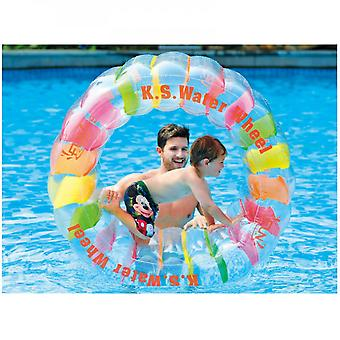 Mimigo Huge Inflatable Color Roller, Suitable For Active Outdoor Play. Inflatable Water Roller Thickened Pvc Grass Roller Ball Children's Water Park C