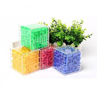 Transparent 3d Ball Rolling Maze Marbles Decompression Cube Toy