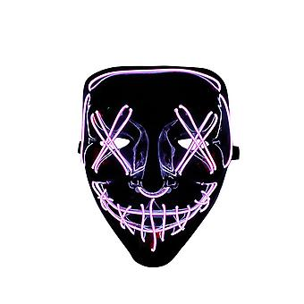 Homemiyn Led Mask Halloween Light Up Cosplay Glowing Mask Gift For Festival Party