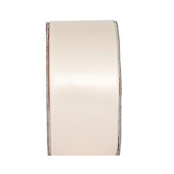 LAST FEW - 3m Cream Blush 25mm Wide Satin Craft Ribbon