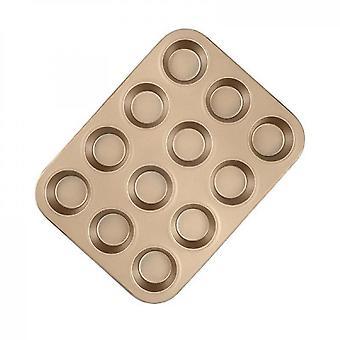 Premium Non-stick Bakeware Standard Muffin And Cupcake Pan(Golden)
