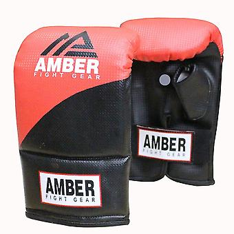 Amber Boxe MMA Formation adulte Sparring Workout Bag Gants Rouges / Noir
