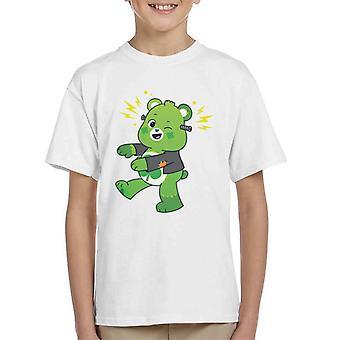 Care Bears UTM Halloween Onnea Bear Frankenstein Lasten t-paita