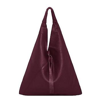 Rödbrun sten Boho läderväska