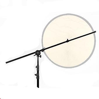 "Studio Photo Holder Bracket Swivel Head Reflector Disc Arm Support 26""-67"""