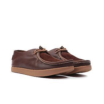 Yogi Footwear Willard Reverse Vamp Leather Shoe - Dark Brown