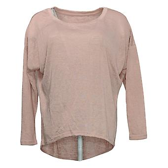 We By Living In Yellow Women's Top Slouchy WEekend Knit Tunic Pink 730322