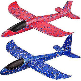 2 Pack jucării avion 17.5 mare aruncare spuma avion