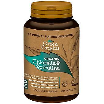 Organic Chlorella & Spirulina, 500mg - 180 tablets