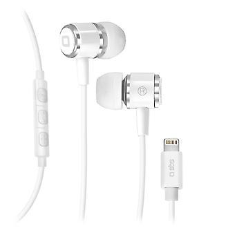 Headphones with Microphone SBS TEINEARLIGHTW White